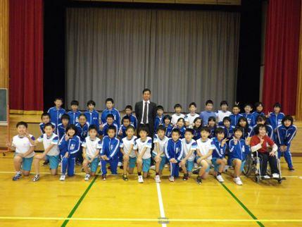 11.8 美郷町立金沢小学校にてGK1...