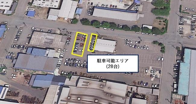 秋田市工業団地内駐車場
